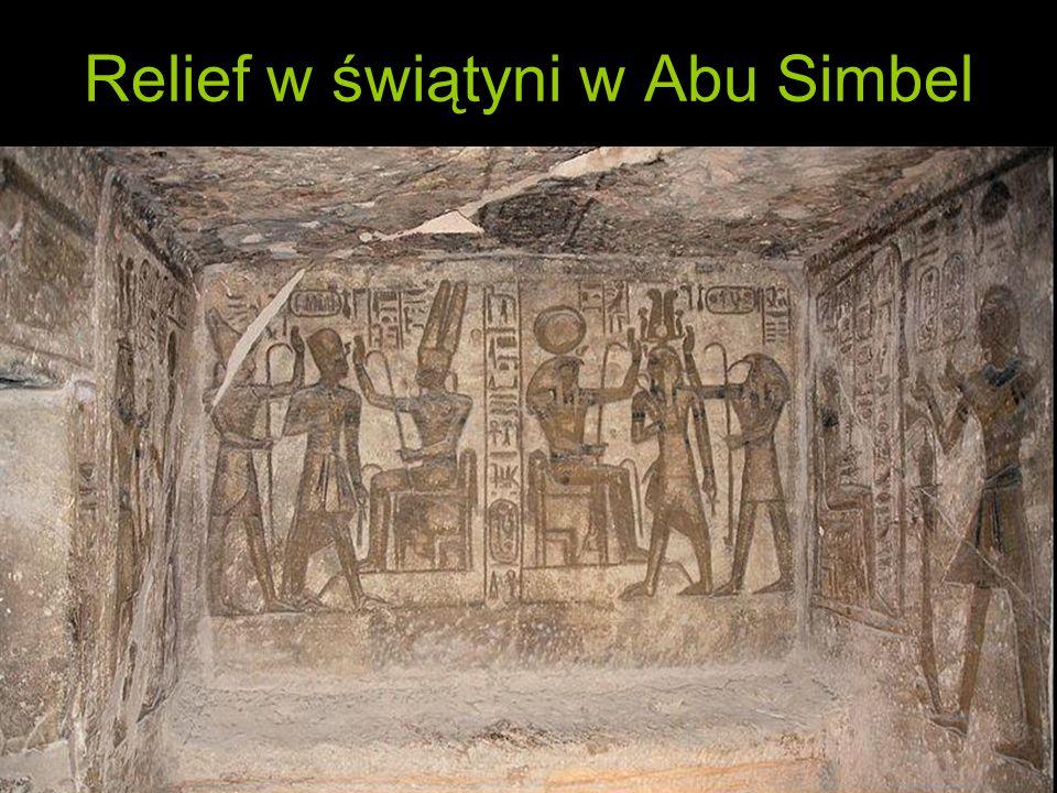 Relief w świątyni w Abu Simbel