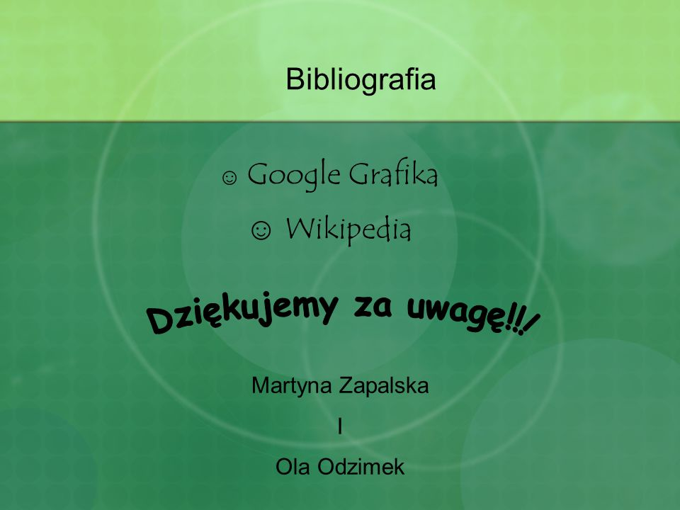 Dziękujemy za uwagę!!! Bibliografia Wikipedia Google Grafika