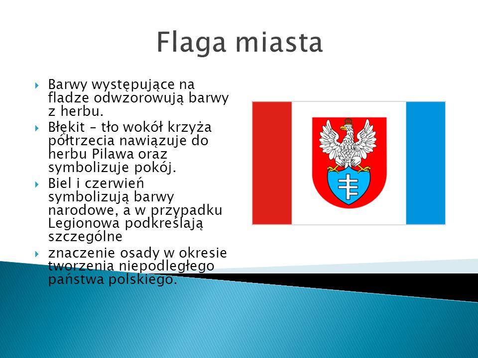 Flaga miasta Barwy występujące na fladze odwzorowują barwy z herbu.