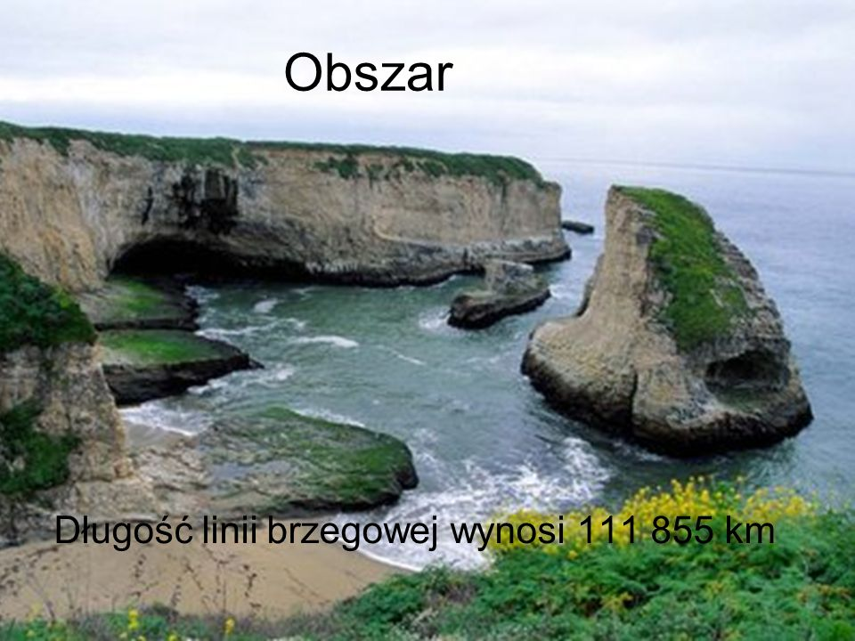 Obszar Długość linii brzegowej wynosi 111 855 km