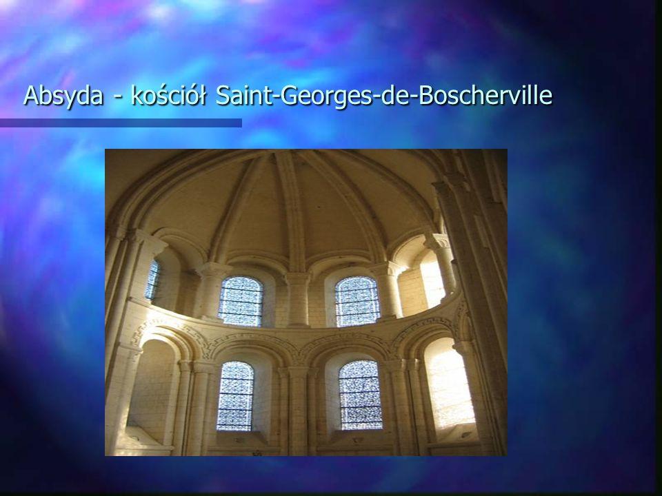 Absyda - kościół Saint-Georges-de-Boscherville