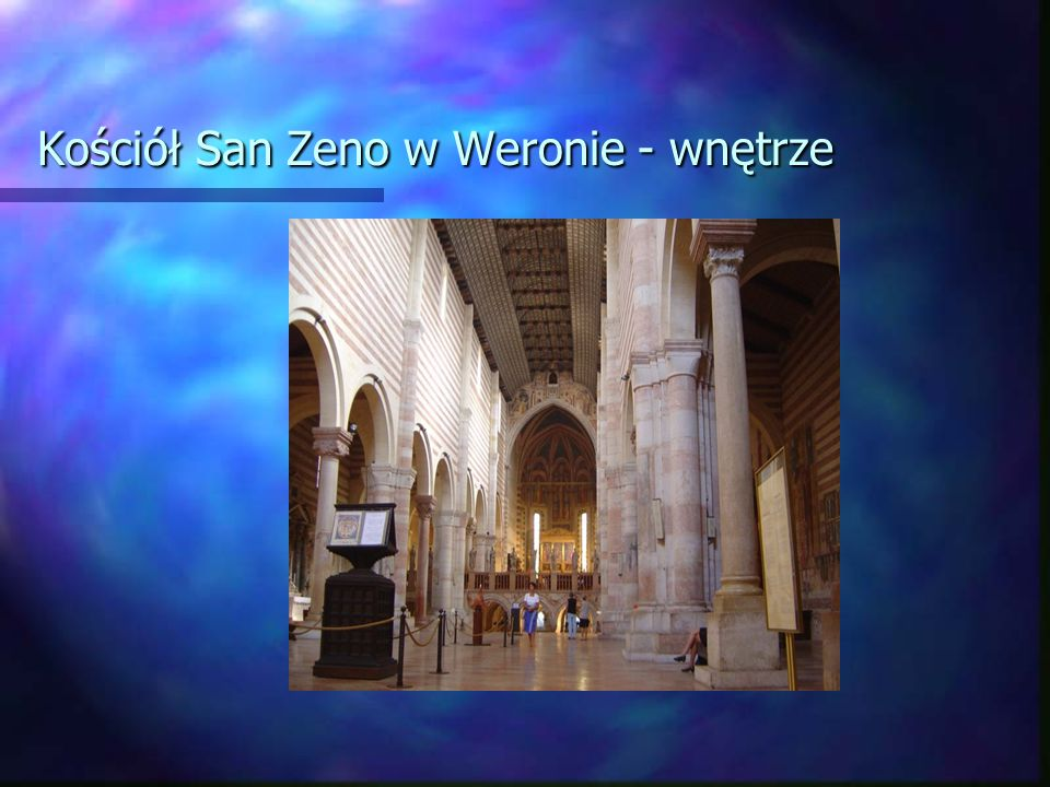 Kościół San Zeno w Weronie - wnętrze