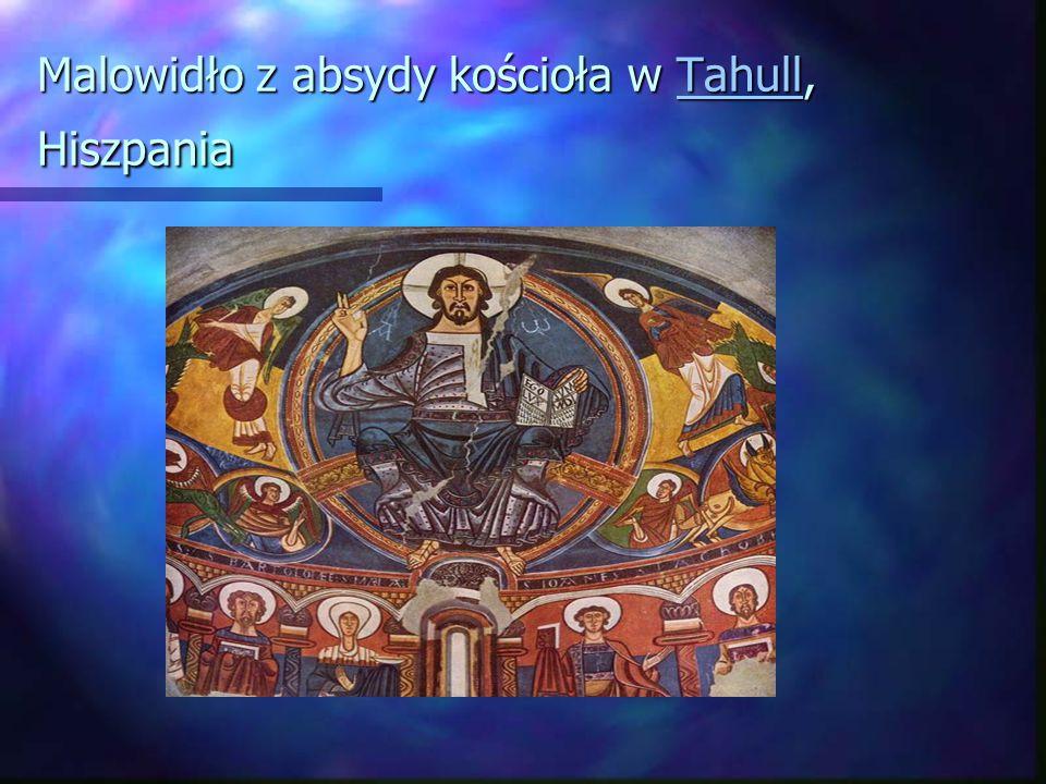 Malowidło z absydy kościoła w Tahull, Hiszpania