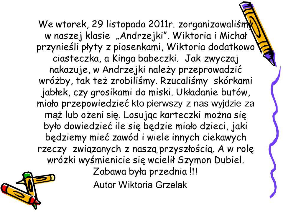 Autor Wiktoria Grzelak