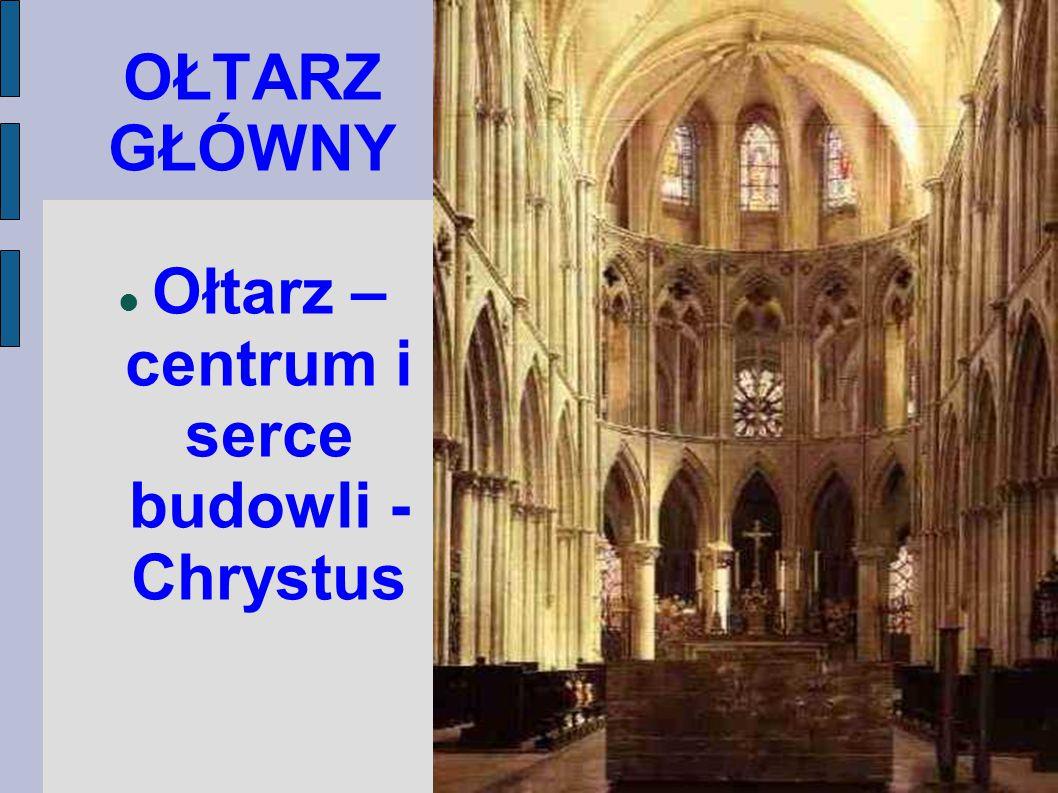 Ołtarz – centrum i serce budowli - Chrystus