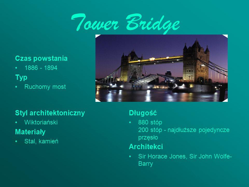 Tower Bridge Czas powstania Typ Styl architektoniczny Długość