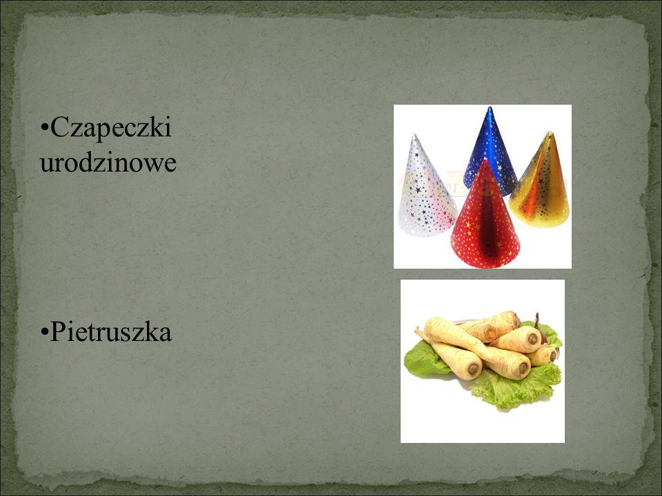 Czapeczki urodzinowe Pietruszka