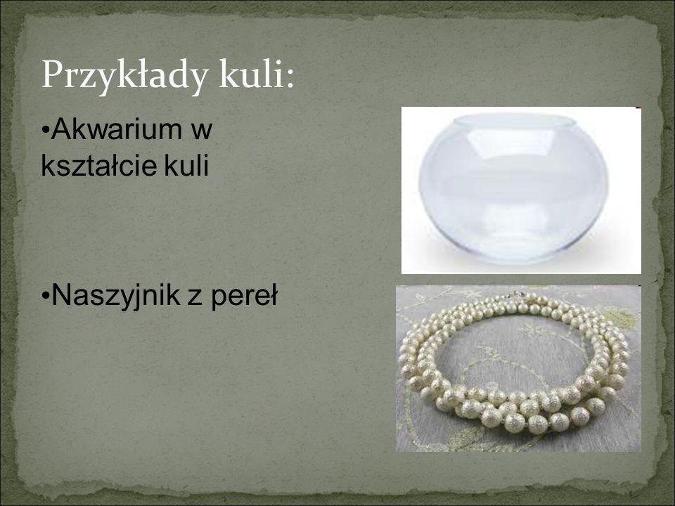 Przykłady kuli: Akwarium w kształcie kuli Naszyjnik z pereł