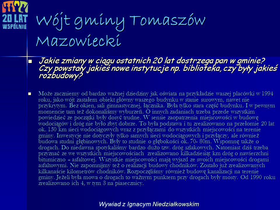 Wójt gminy Tomaszów Mazowiecki