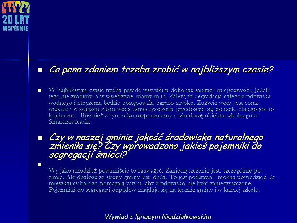 Wywiad z Ignacym Niedziałkowskim