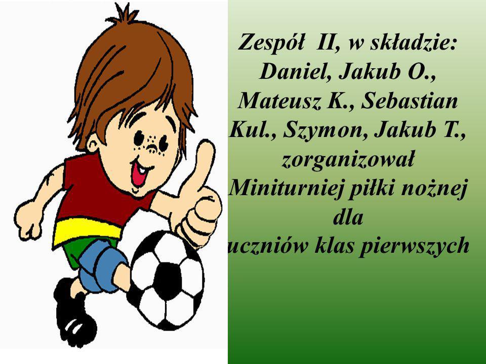Zespół II, w składzie: Daniel, Jakub O. , Mateusz K. , Sebastian Kul
