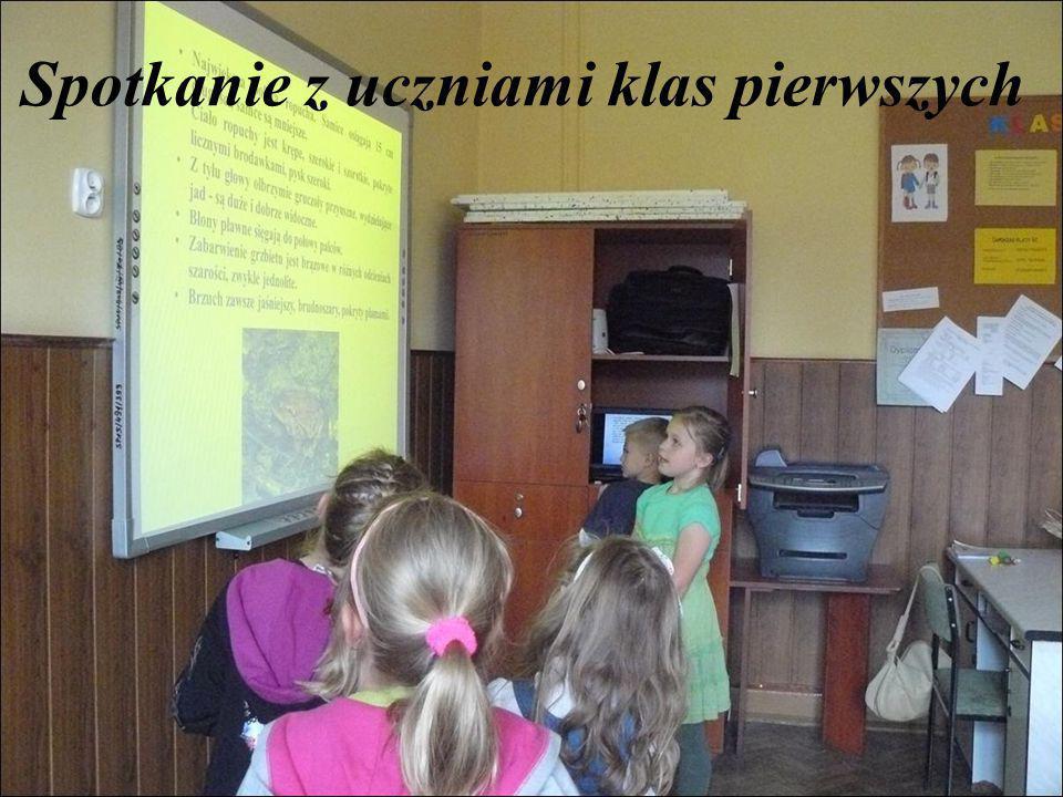 Spotkanie z uczniami klas pierwszych
