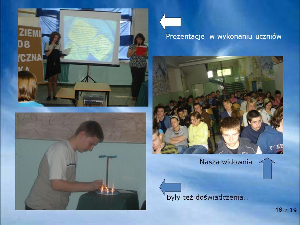 Prezentacje w wykonaniu uczniów