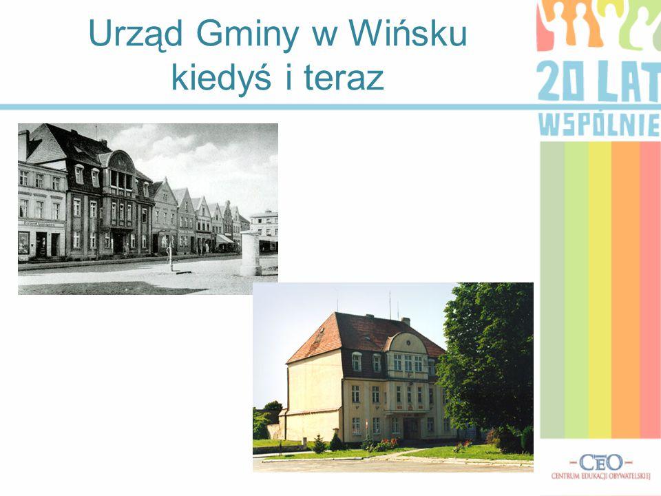 Urząd Gminy w Wińsku kiedyś i teraz