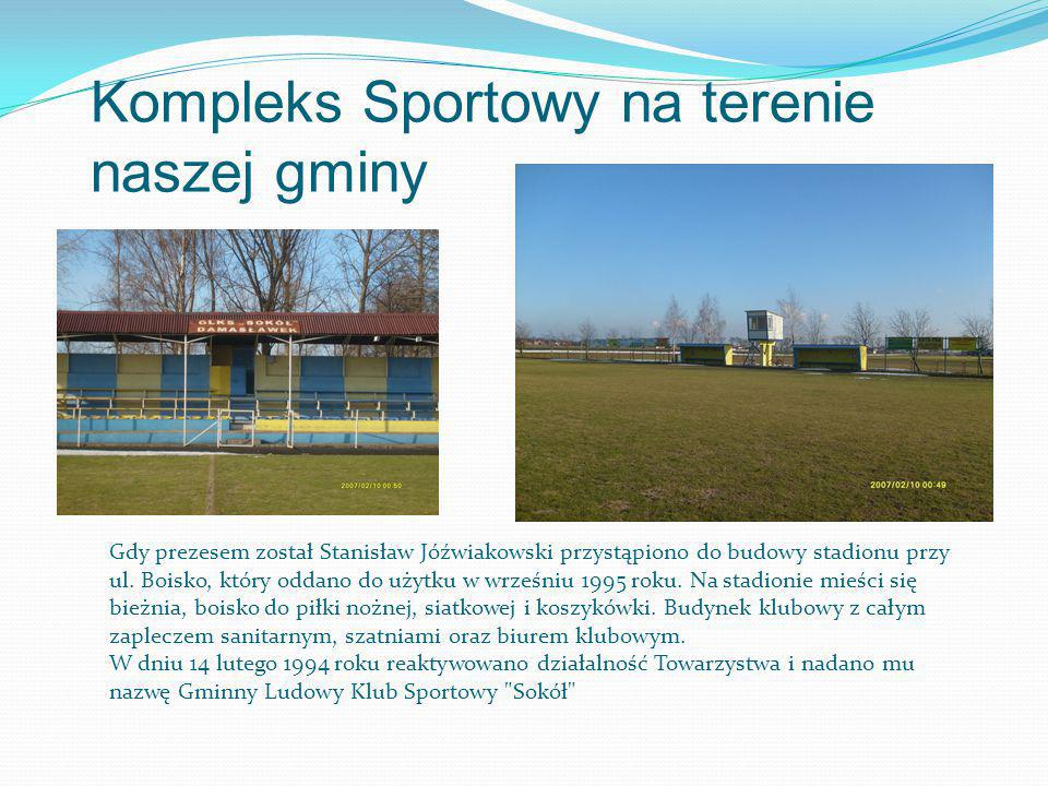 Kompleks Sportowy na terenie naszej gminy