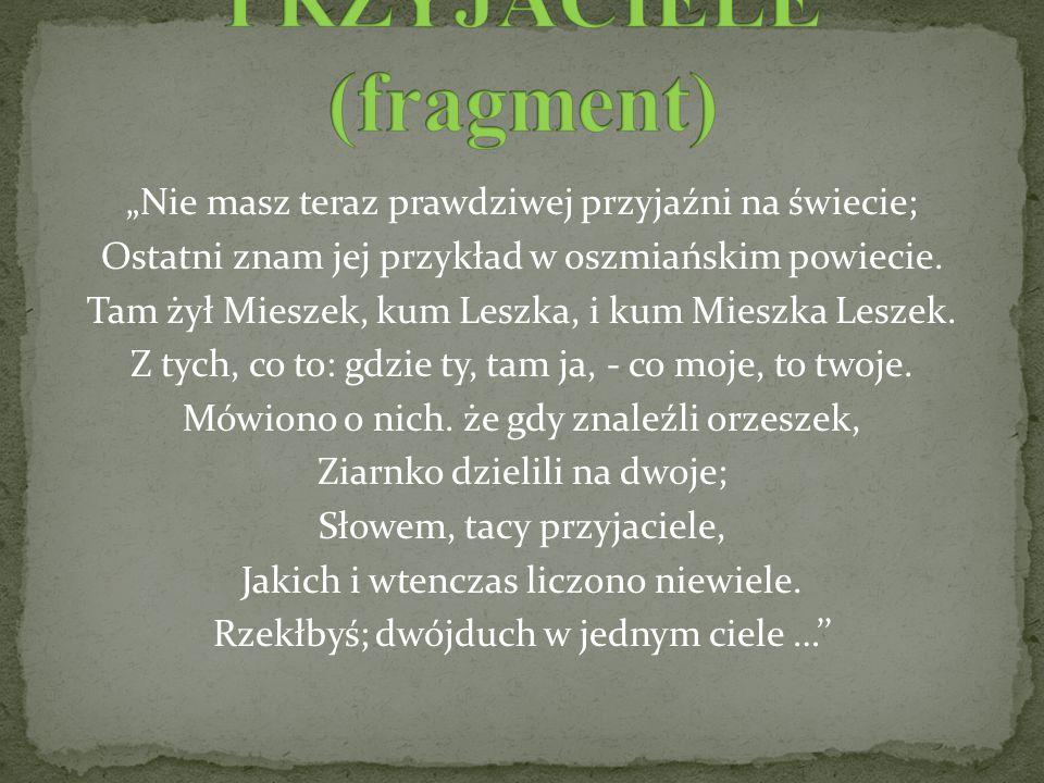 PRZYJACIELE (fragment)