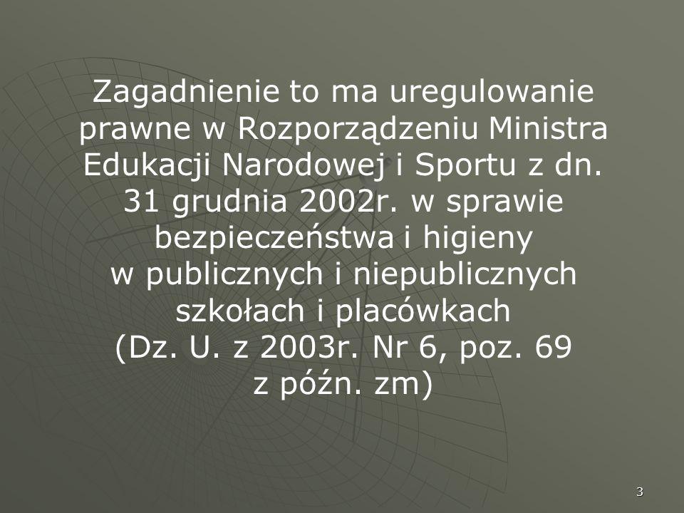 Zagadnienie to ma uregulowanie prawne w Rozporządzeniu Ministra Edukacji Narodowej i Sportu z dn.