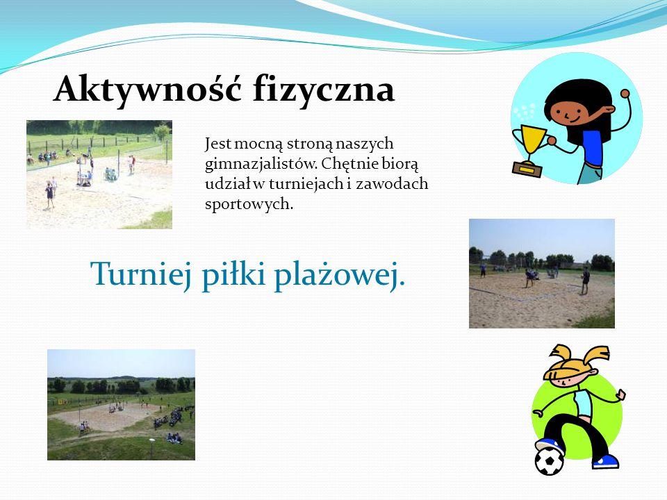 Aktywność fizyczna Turniej piłki plażowej.