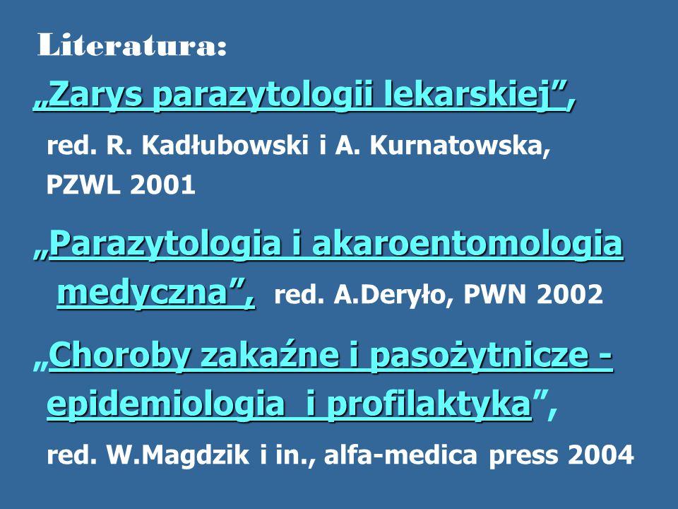 """""""Zarys parazytologii lekarskiej ,"""