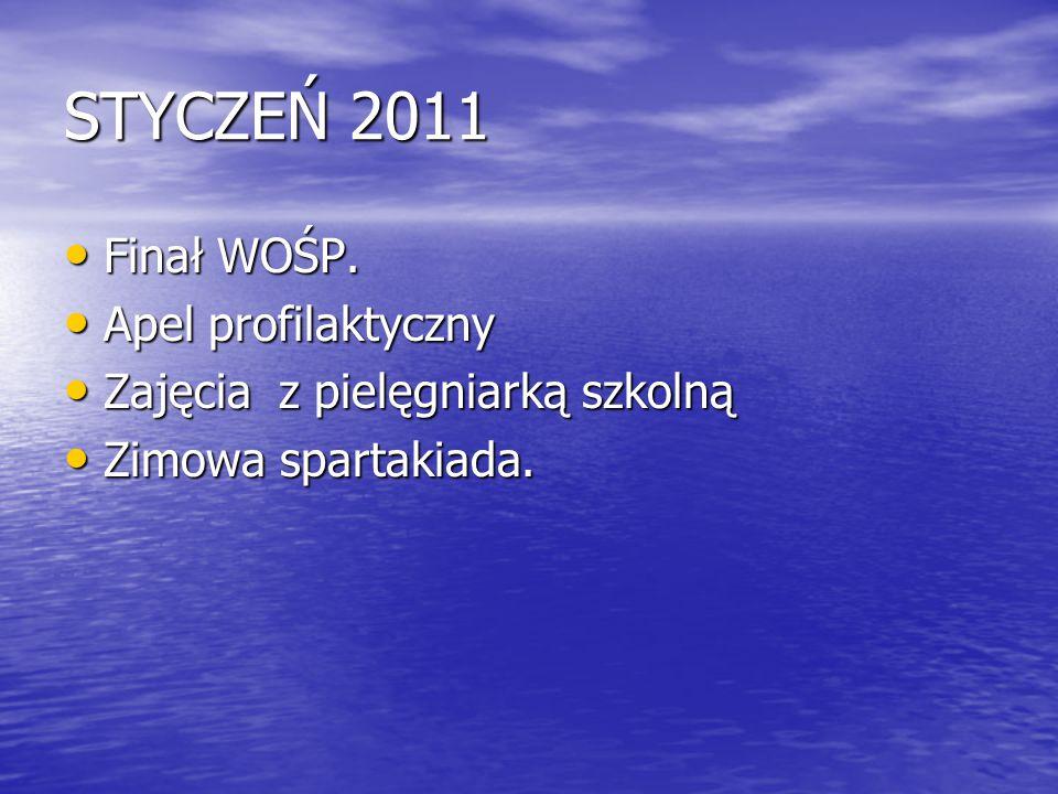 STYCZEŃ 2011 Finał WOŚP. Apel profilaktyczny