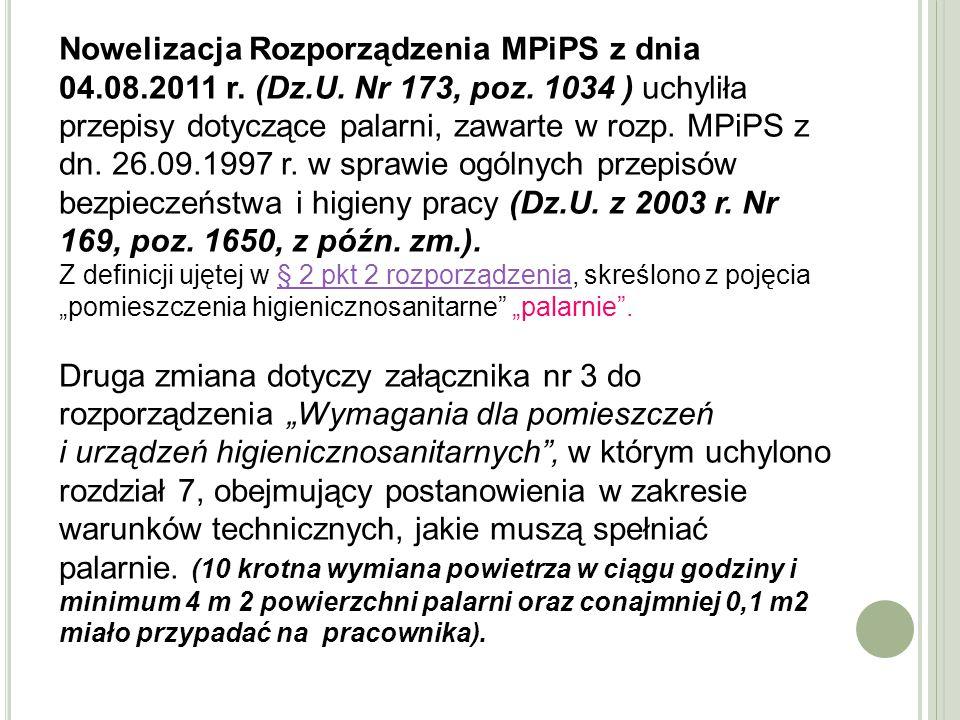 Nowelizacja Rozporządzenia MPiPS z dnia 04. 08. 2011 r. (Dz. U