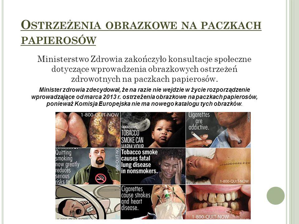 Ostrzeżenia obrazkowe na paczkach papierosów
