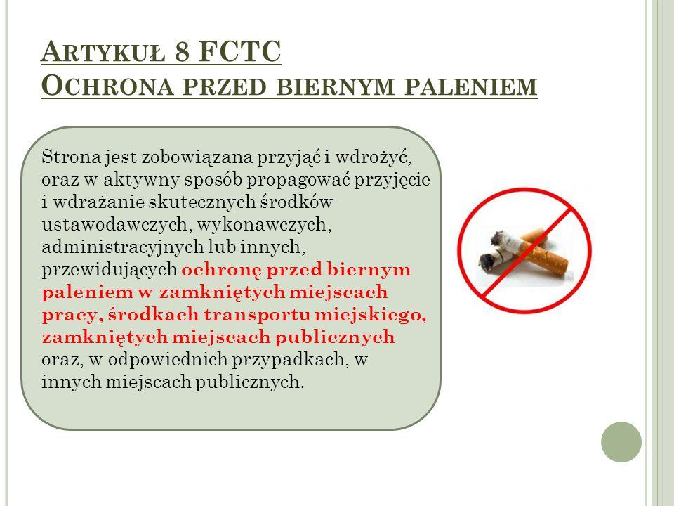 Artykuł 8 FCTC Ochrona przed biernym paleniem