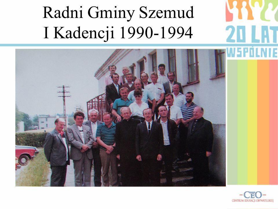 Radni Gminy Szemud I Kadencji 1990-1994