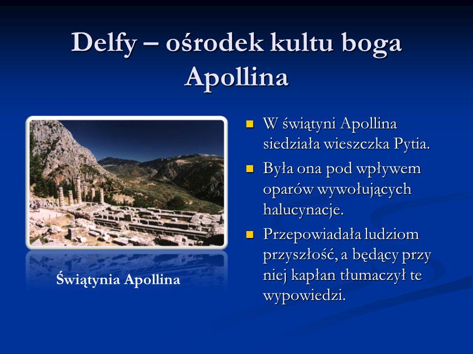 Delfy – ośrodek kultu boga Apollina