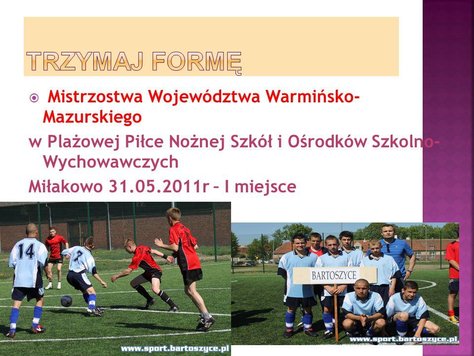 TRZYMAJ FORMĘ Mistrzostwa Województwa Warmińsko- Mazurskiego
