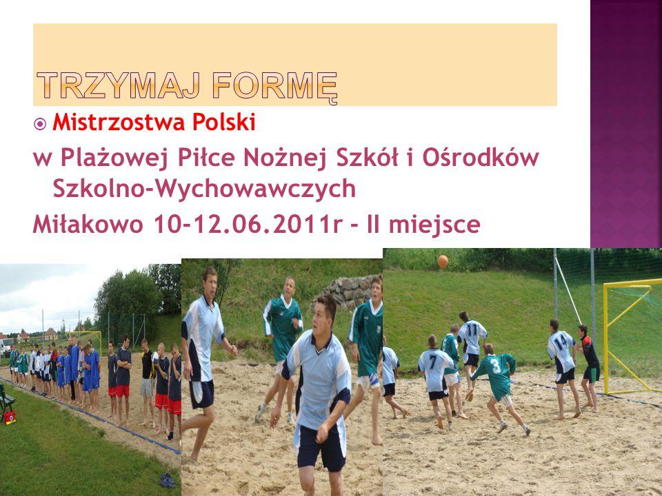TRZYMAJ FORMĘ Mistrzostwa Polski. w Plażowej Piłce Nożnej Szkół i Ośrodków Szkolno-Wychowawczych.
