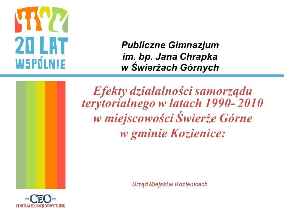 Publiczne Gimnazjum im. bp. Jana Chrapka w Świerżach Górnych