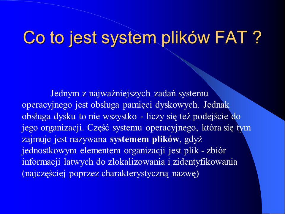 Co to jest system plików FAT