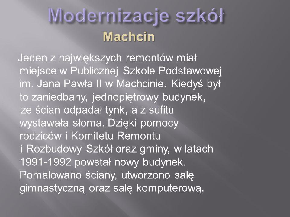 Modernizacje szkół Machcin