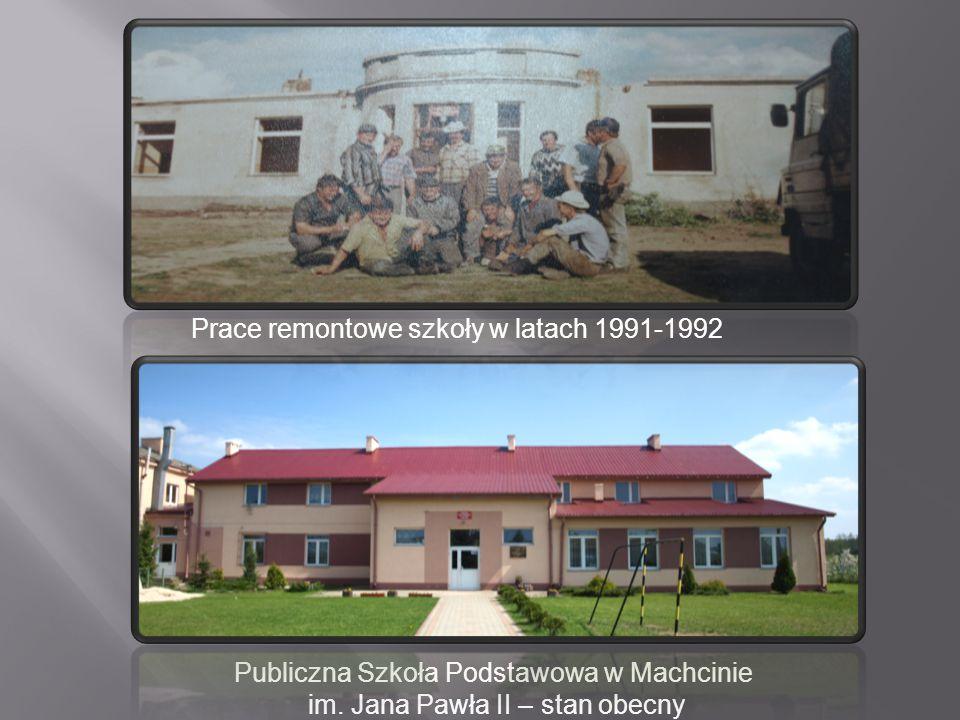 Prace remontowe szkoły w latach 1991-1992