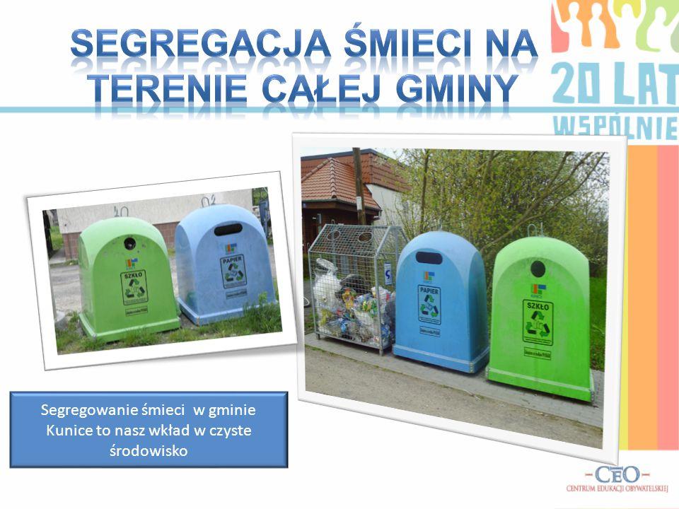 Segregacja śmieci na terenie całej gminy