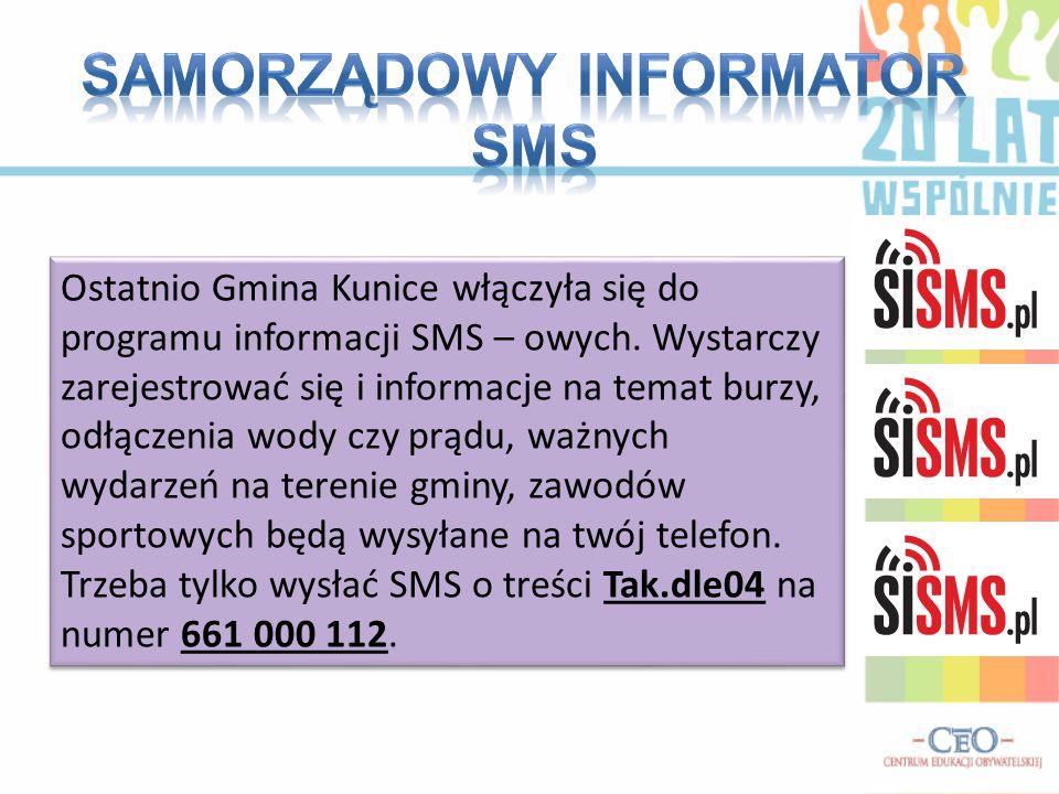 Samorządowy informator SMS