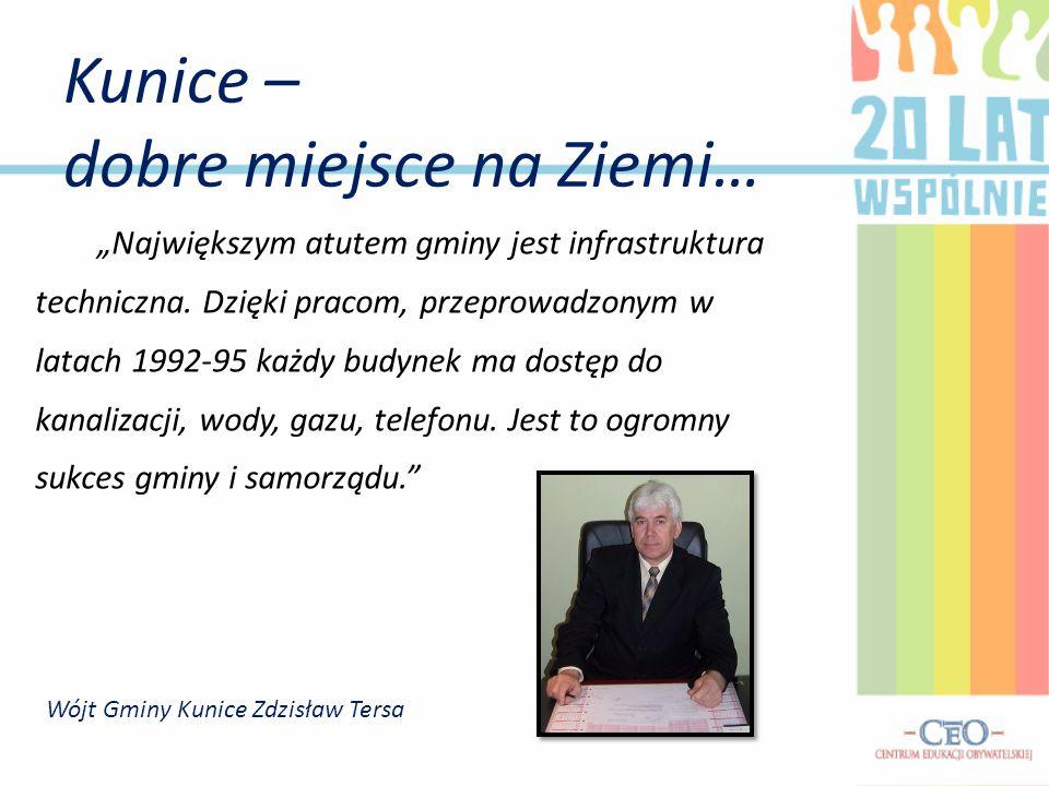 Wójt Gminy Kunice Zdzisław Tersa