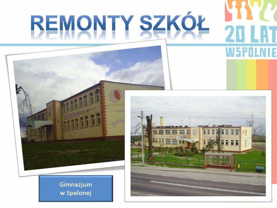 Remonty szkół Gimnazjum w Spalonej