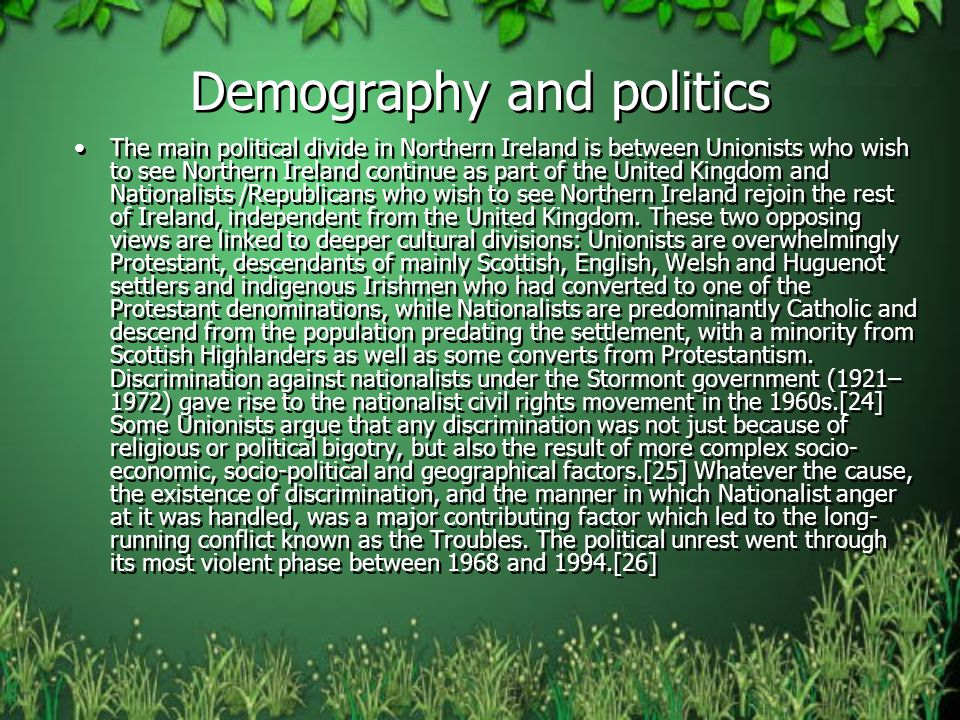 Demography and politics