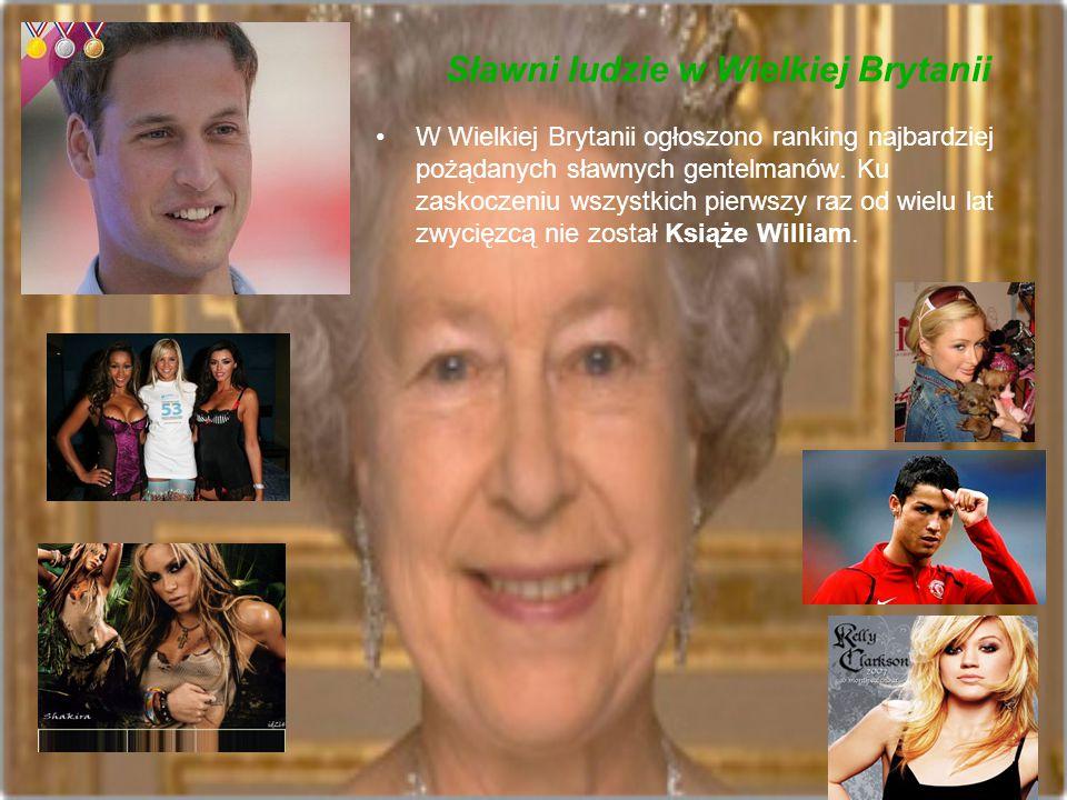 Sławni ludzie w Wielkiej Brytanii