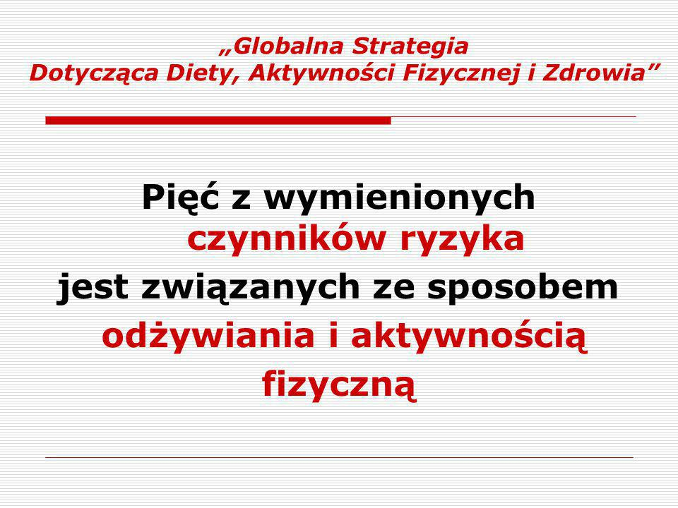"""""""Globalna Strategia Dotycząca Diety, Aktywności Fizycznej i Zdrowia"""
