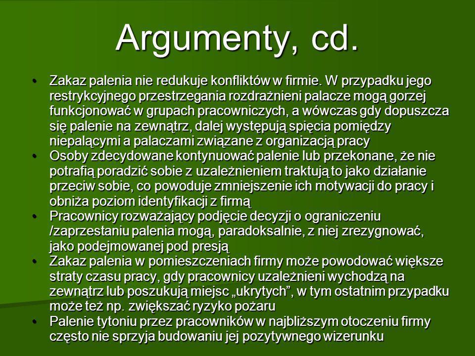 Argumenty, cd.