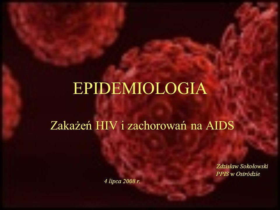 Zakażeń HIV i zachorowań na AIDS