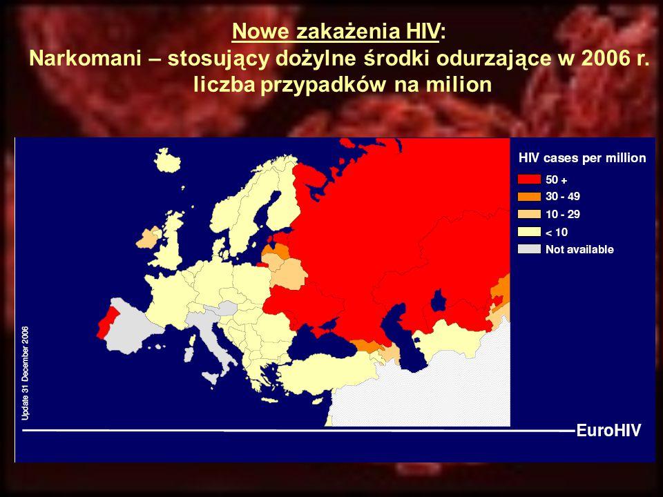 Narkomani – stosujący dożylne środki odurzające w 2006 r.