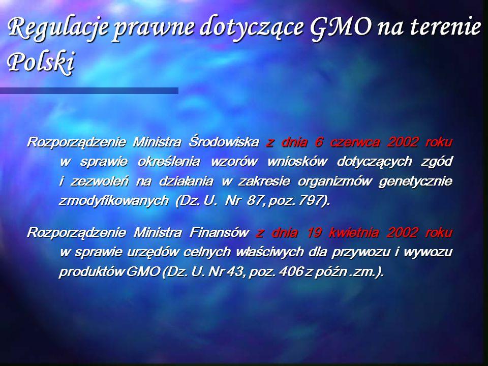 Regulacje prawne dotyczące GMO na terenie Polski