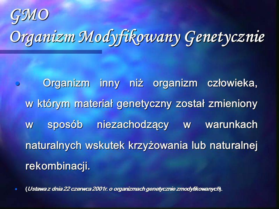 GMO Organizm Modyfikowany Genetycznie
