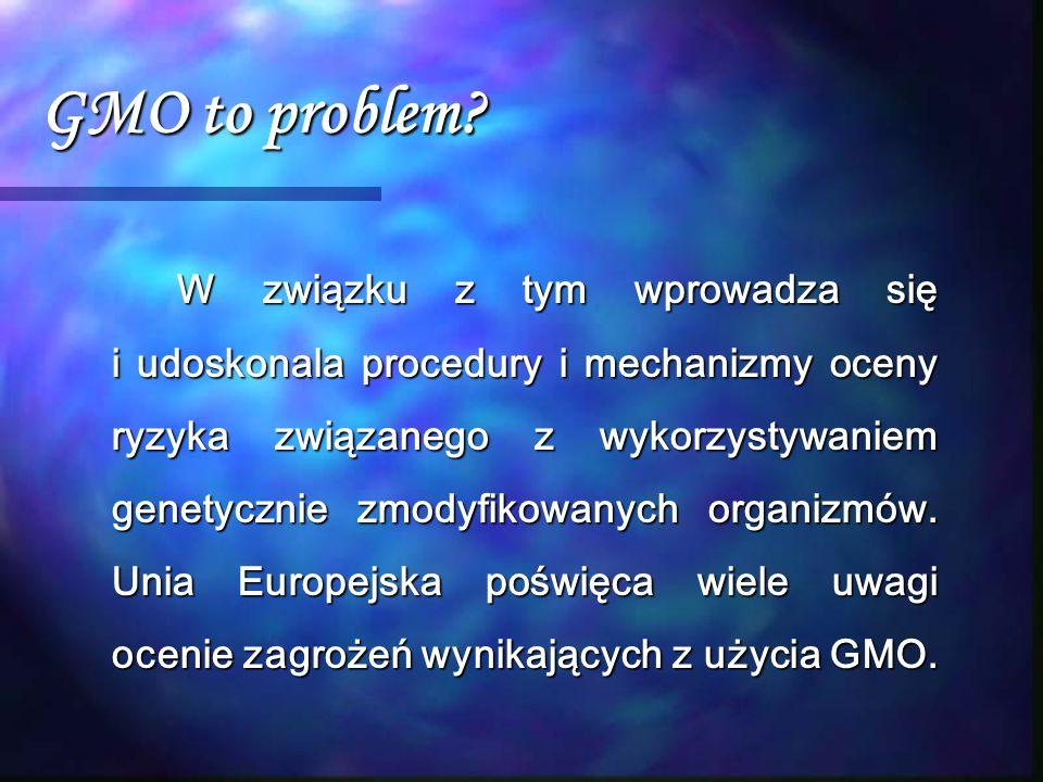 GMO to problem