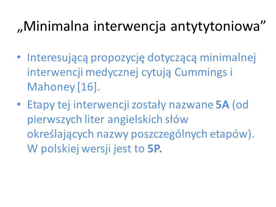 """""""Minimalna interwencja antytytoniowa"""