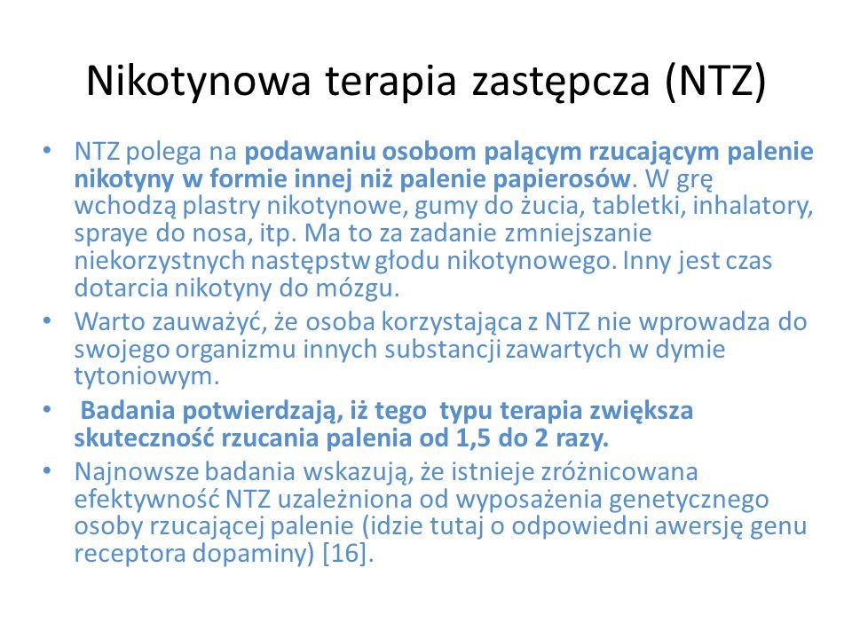 Nikotynowa terapia zastępcza (NTZ)